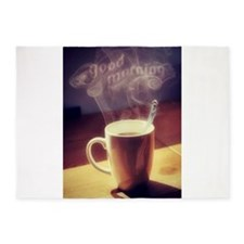 GOOD MORNING, COFFEE 5'x7'Area Rug