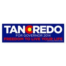 Tancredo For Governor Bumper Car Sticker