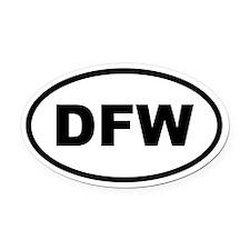 Dfw Oval Car Magnet