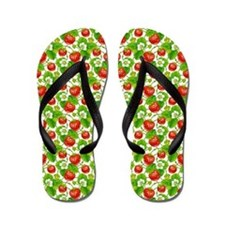 Strawberry Pattern Flip Flops