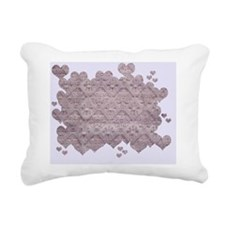 Heart Fabric Rectangular Canvas Pillow