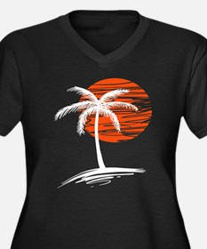 Palm Tree In The Sunset Plus Size T-Shirt