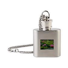 PINK LOTUS Flask Necklace