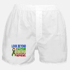 Look Beyond 2 Autism Nephews Boxer Shorts
