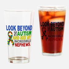 Look Beyond 2 Autism Nephews Drinking Glass