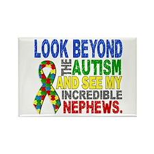 Look Beyond 2 Autism Nephews Rectangle Magnet