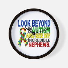 Look Beyond 2 Autism Nephews Wall Clock