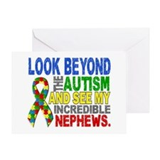 Look Beyond 2 Autism Nephews Greeting Card