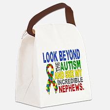 Look Beyond 2 Autism Nephews Canvas Lunch Bag