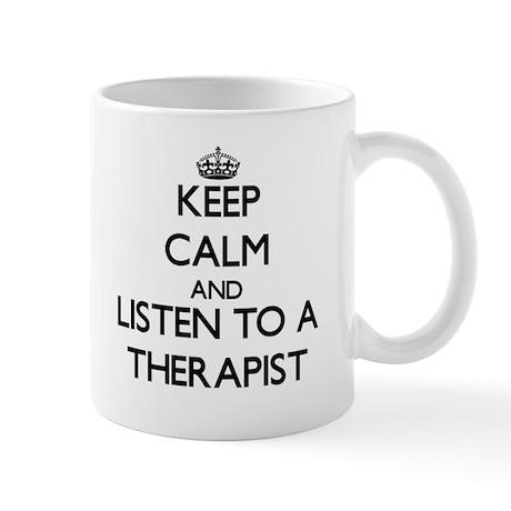 Keep Calm and Listen to a arapist Mugs