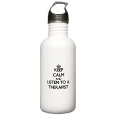Keep Calm and Listen to a arapist Water Bottle