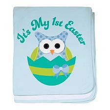 1st Easter Owl baby blanket