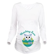 Hatching Soon Easter Owl Maternity Long Sleeve Mat