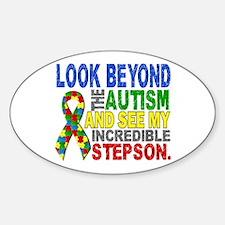 Look Beyond 2 Autism Stepson Sticker (Oval)