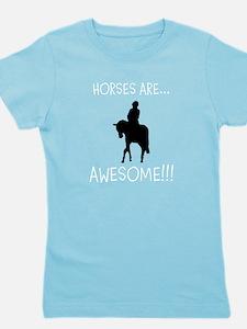 Horse Theme Girl's Tee #3001