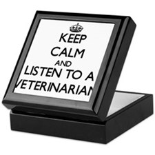 Keep Calm and Listen to a Veterinarian Keepsake Bo