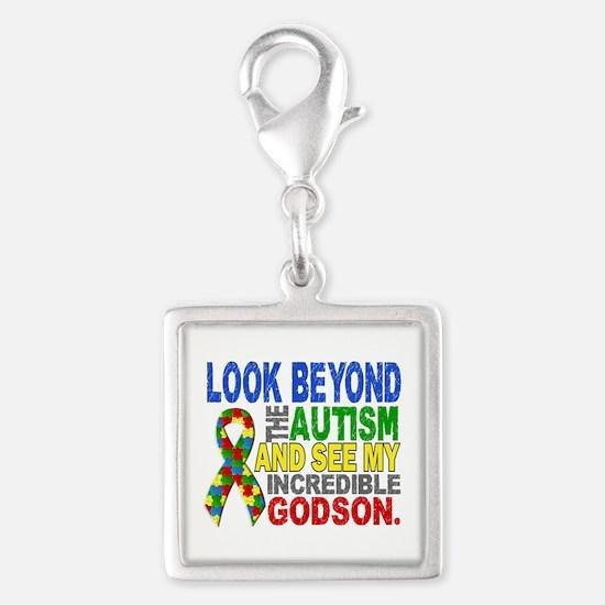 Look Beyond 2 Autism Godson Silver Square Charm