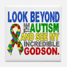 Look Beyond 2 Autism Godson Tile Coaster
