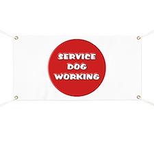 SERVICE DOG WORKING Banner