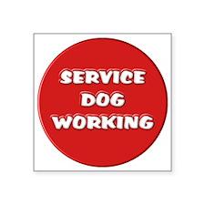 SERVICE DOG WORKING Sticker