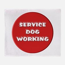 SERVICE DOG WORKING Throw Blanket