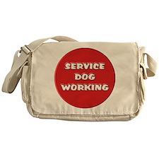 SERVICE DOG WORKING Messenger Bag