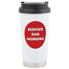 SERVICE DOG WORKING Travel Mug