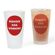 SERVICE DOG WORKING Drinking Glass