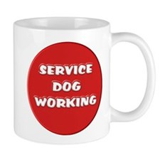 SERVICE DOG WORKING Mugs