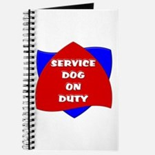 SERVICE DOG ON DUTY Journal