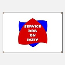 SERVICE DOG ON DUTY Banner