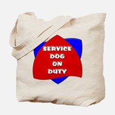 SERVICE DOG ON DUTY Tote Bag