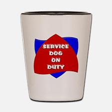 SERVICE DOG ON DUTY Shot Glass