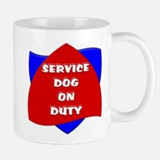 SERVICE DOG ON DUTY Mugs