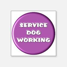 SERVICE DOG WORKING PURPLE Sticker