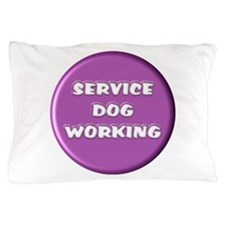 SERVICE DOG WORKING PURPLE Pillow Case
