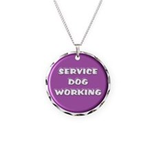 SERVICE DOG WORKING PURPLE Necklace