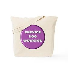 SERVICE DOG WORKING PURPLE Tote Bag