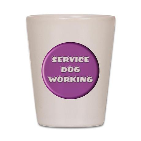 SERVICE DOG WORKING PURPLE Shot Glass