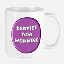 SERVICE DOG WORKING PURPLE Mugs