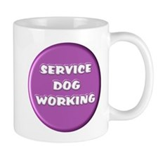 SERVICE DOG WORKING PURPLE Mugs