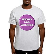 SERVICE DOG WORKING PURPLE T-Shirt
