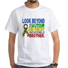 Look Beyond 2 Autism Brother Shirt