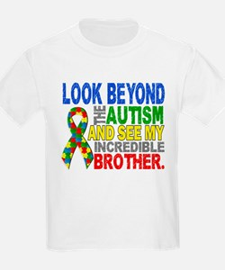 Look Beyond 2 Autism Brother T-Shirt