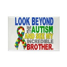 Look Beyond 2 Autism Brother Rectangle Magnet