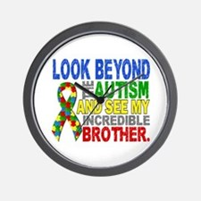 Look Beyond 2 Autism Brother Wall Clock