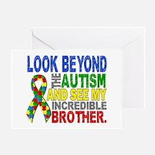 Look Beyond 2 Autism Brother Greeting Card