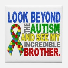 Look Beyond 2 Autism Brother Tile Coaster