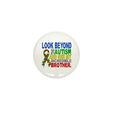 Look Beyond 2 Autism Brother Mini Button (10 pack)