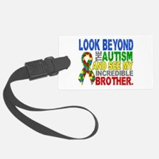 Look Beyond 2 Autism Brother Luggage Tag